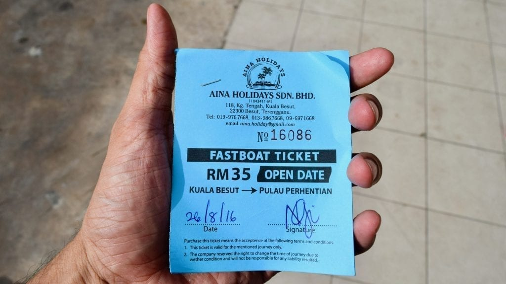 Third step of Kuala Lumpur to Perhentian Islands is to buy a fast boat ticket in Kuala Besut.