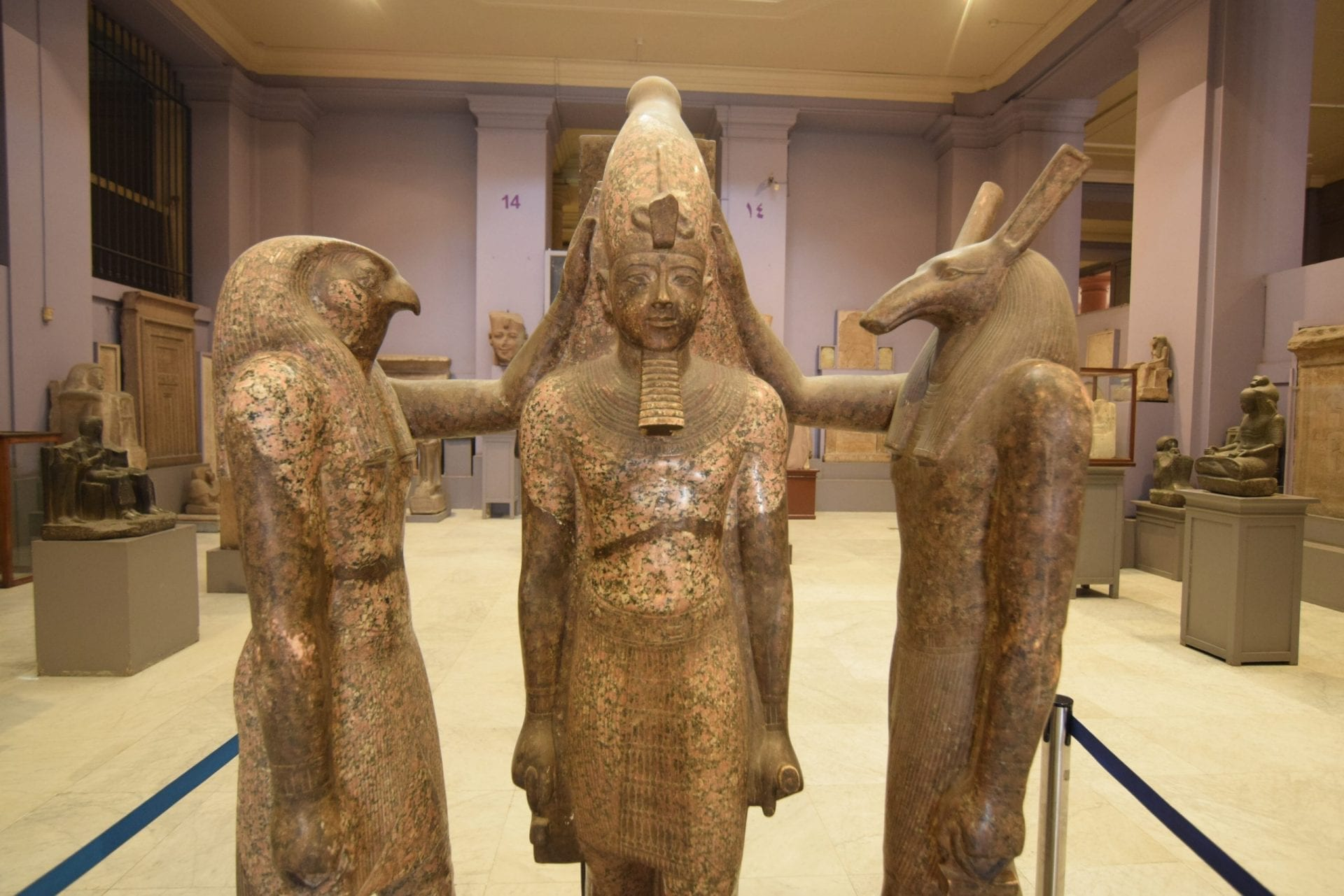 Horus, Set and Ramses in Egyptian Museum