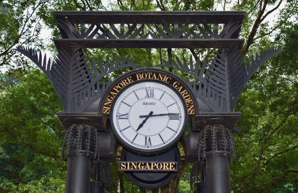 Grand Clock in Singapore Botanic Gardens