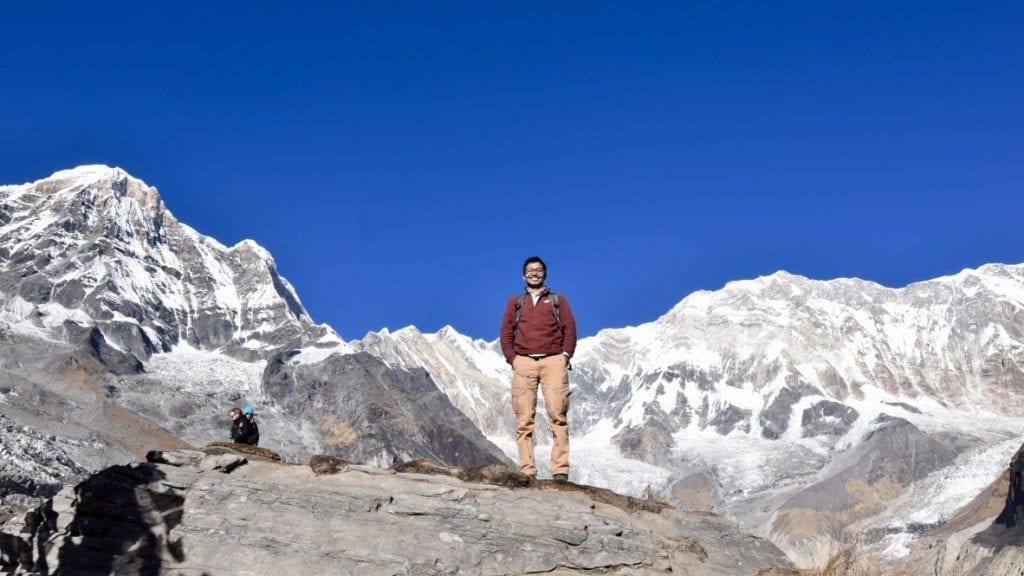 I was there one day at Annapurna Base Camp