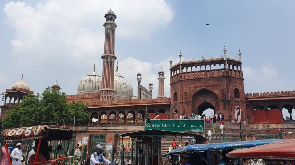 Delhi Jama mosque area is vibrant and should be on your list of 2 days in Delhi.