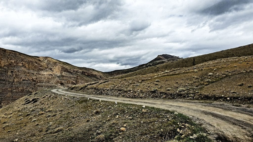 Rugged road in Langza village.