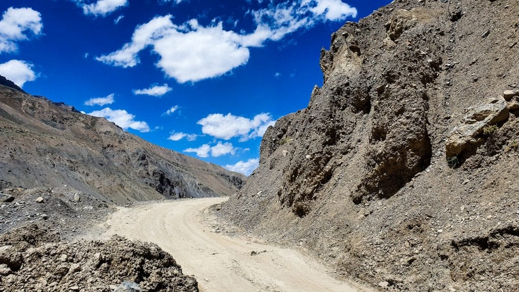 Road in Spiti Valley towards Mud Village